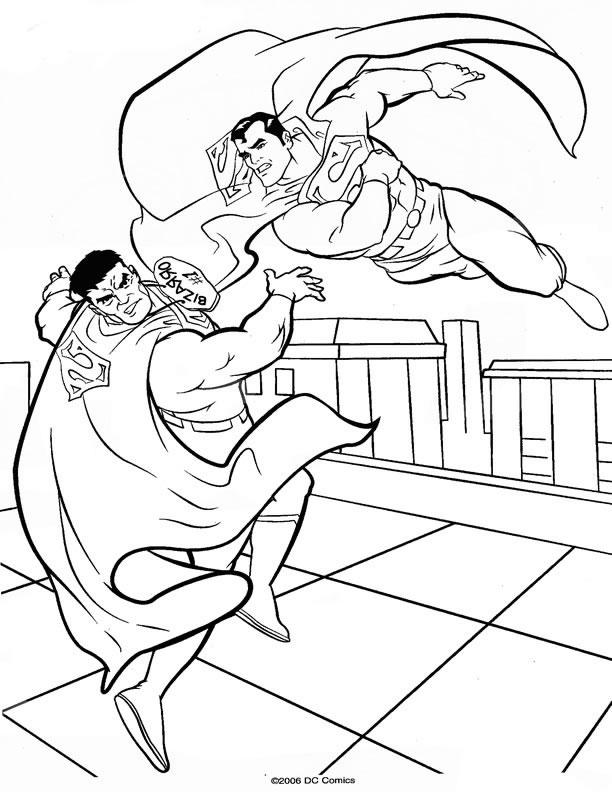 Page Coloriage Superman