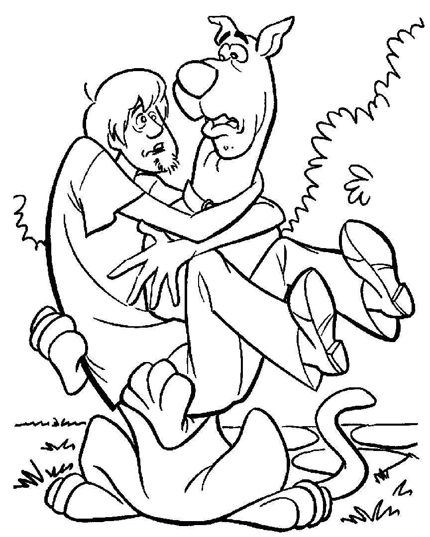 page coloriage scooby doo